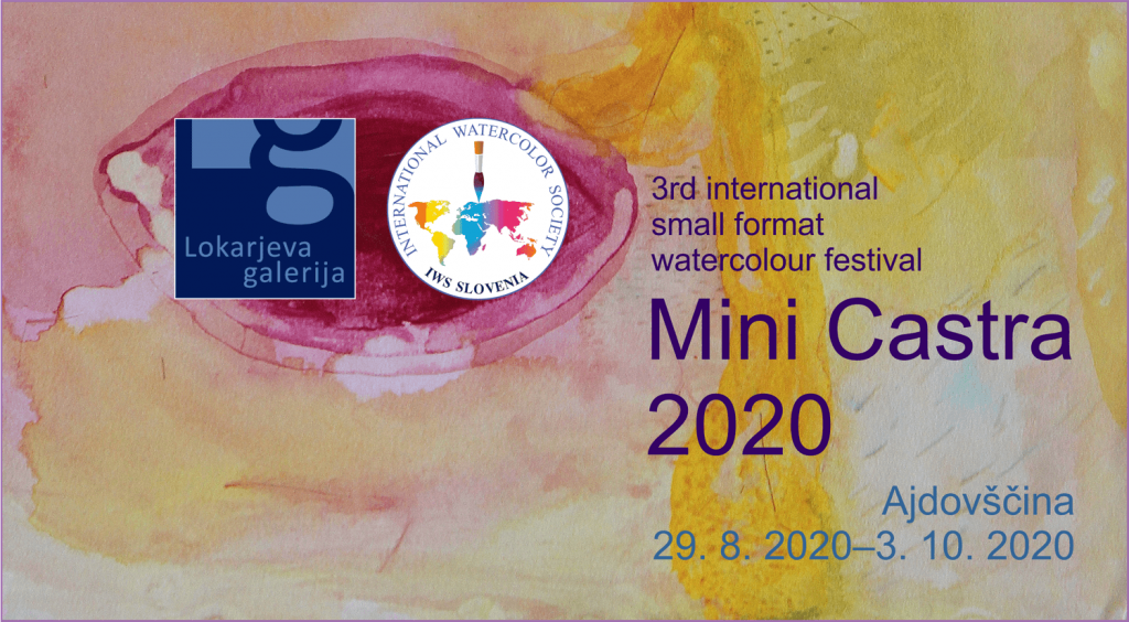Invitation to the 3rd international small format watercolour biennial Mini Castra 2020
